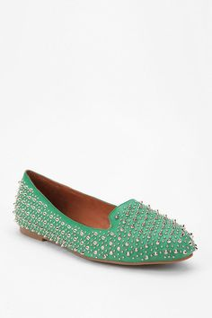 Pair these Jeffrey Campbell studded loafers with the Annie Griffin white lace Dress (Libby Dress)