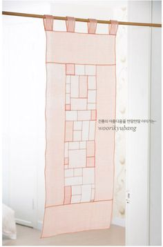 Red feminine flame shield / natural dye made from (natural dye), the linen… Korean Traditional, Traditional Design, Shibori Fabric, Fabric Board, Korean Products, Entrance Design, Shabby Chic Farmhouse, Japanese Textiles, Textile Artists