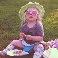 2-year-old, Emma Grace, enjoying an impromptu pizza picnic for dinner after a day of summer fun including a trip to the beach and the playground. Submitted by Hannah. -- Choose your favorite photo and submit your vote by August 6, 2012 for a chance to win a gift card for children's books!
