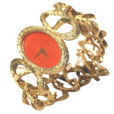 Fabulous 1970s PIAGET Coral Jewelry Watch
