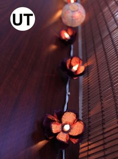 Egg carton floral lights