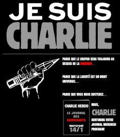 Nous ne faisons pas de politique et nous n'en ferons jamais, nous ne défendons aucune idéologie. Cependant, nous sommes touché et en tant qu'entreprise de communication nous soutenons Charlie. http://www.charliehebdo.fr/index.html  http://www.prestimedia.fr/nous-sommes-charlie/