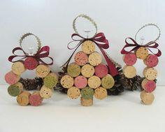 wein korken ornamente weihnachts