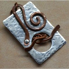 Sterling Silver and  Copper Toggle Clasp   Mixed by SunStones, $22.00
