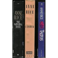 Anne Rice's Witching Hour series - I love the vampire series, but these are even better!