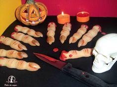 Dita di strega biscotti di frolla per festeggiare Halloween