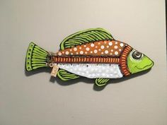 Clay Fish, Ceramic Fish, Fish Wall Art, Fish Art, Small Fish, Fish Design, Wall Decorations, Wooden Crafts, Home Crafts