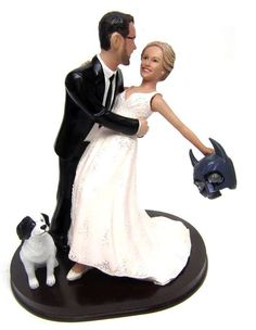 This romantic wedding cake topper style is perfect for the Batman loving groom in your life. We'll custom sculpt your faces and hairstyles from your photos and custom paint the colors of your choice. Let us create a one-of-a-kind unique wedding cake toppe Custom Wedding Cake Toppers, Unique Wedding Cakes, Wedding Ideas, Wedding Themes, Military Wedding Cakes, Hockey Wedding, Military Cake, Superhero Wedding Cake, Unique Wedding Hairstyles