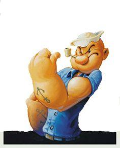 PARTAGE OF ANK DI TIM EM........ON FACEBOOK................ Classic Cartoon Characters, Cartoon Books, Classic Cartoons, Comic Book Characters, Disney Drawings, Cartoon Drawings, Cartoon Art, Olive Oil Popeye, Popeye Tattoo