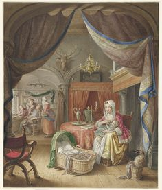 Moeder met kind aan de borst, Willem Joseph Laquy, 1748 - 1798 // Totally awesome painting. So detailed. I love it!