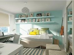 Mint color interior design<3