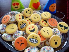 A trendy and fun theme idea for birthdays by Sweet Dani B- emoticons! Xo See how we made them here http://wp.me/p2dUTC-1zv