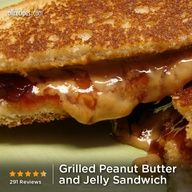 """Grilled Peanut Butter and Jelly Sandwich 