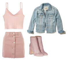 """""""Sem título #13"""" by catharina-bordallo on Polyvore featuring moda, Topshop, Hollister Co. e Laurence Dacade"""