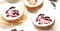 sablés à la confiture, fraises, abricots, pâques