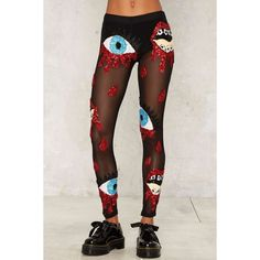 DI$COUNT UNIVER$E Bleeding Sequin Leggings ($348) ❤ liked on Polyvore featuring pants, leggings, mesh leggings, high-waisted leggings, high-waisted pants, see through legging and sheer leggings