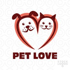 Exclusive Customizable Logo For Sale: Pet Love | StockLogos.com