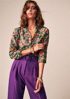 Sézane - The Pierro shirt Fashion Mode, Womens Fashion, Fashion Trends, Estilo Hippie, Looks Street Style, Look Vintage, Mode Style, Bunt, Casual