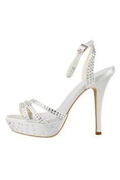 Landyagent Frauen Gummisohle Mit Hoher Fein Heels Hochzeit Braut Sandale Http On White High Heelsbridal Shoeswedding