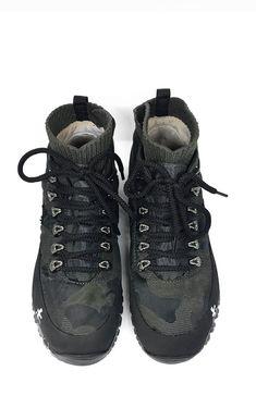 Green Military Hi-top Trekking Boots by Premiata