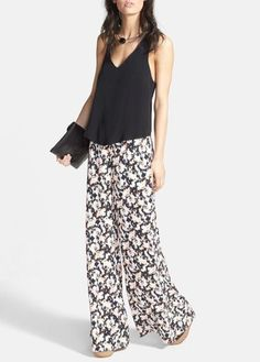 Yay for spring fashion! Smitten with this silk tank and floral pant combo.