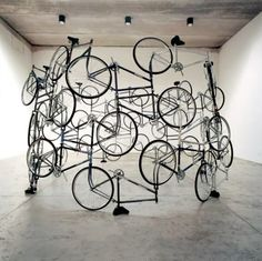 Ai Weiwei is probably the most famous Chinese artist today. Take a look at 10 most expensive Ai Weiwei art sculptures Ai Weiwei, Marcel Duchamp, Fischli Weiss, Pimp Your Bike, Nouveau Realisme, Instalation Art, Wei Wei, Bicycle Art, Bicycle Crafts