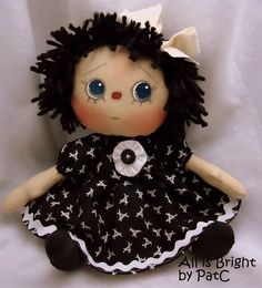 Raggedy Doll Eve would be ever so pleased to make your acquaintance.  With her dark blue eyes and innocent expression, she'll be delighted t...