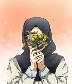can you pin it duudes ? Wallpaper Hp, Islamic Wallpaper, Wallpaper Pictures, Girl Cartoon, Cartoon Art, Hijab Anime, Hijab Drawing, Islamic Cartoon, Hijab Cartoon