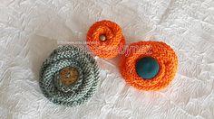 Knit Flower Pattern Brooch Pin Pattern Hair Pin by nezoshop