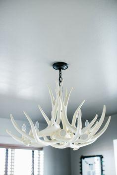 antler chandelier d6 faux antler chandelier by theshabbyantler