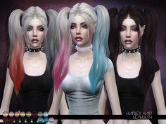 The Sims 4 najlepsze mody do gry: LeahLillith Harley fryzura Sims 4 Teen, Sims Four, Sims Cc, Sims 4 Anime, The Sims 4 Cabelos, Pelo Sims, The Sims 4 Packs, Harley Quinn Halloween, Sims4 Clothes