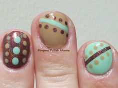 Fingers Polish Mania: Dots and Stripes, Bettina, Dance Legend