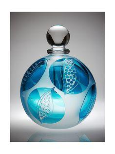ruth dresman glass | All photographs are the copyright of Martin Urmson Potion Bottle, Bottle Vase, Bottle Box, Glass Bottles, Antique Perfume Bottles, Vintage Bottles, Parfums, Blue Perfume, Beautiful Perfume