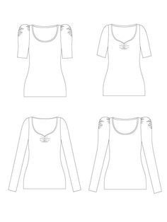 Agnes digital PDF sewing pattern. Learn to sew jersey tops with the Tilly and the Buttons easy-to-use instructions. No need for an overlocker or serger.