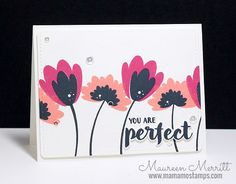 Mama Mo Stamps: WPlus9 June Release - Summer Blooms