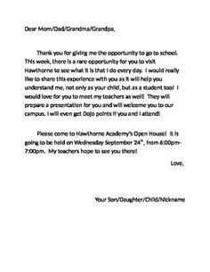 Open House invitation example :)