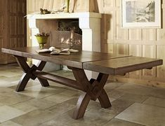 The Marseille monastery dining table is a beautiful, French inspired solid oak dining table with a rustic farmhouse style.