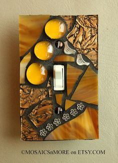 Golden Glamour    Handmade Single Mosaic Light by MOSAICSnMORE, $16.95