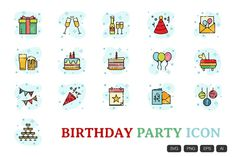 Birthday Songs, Birthday Video, Happy Birthday, Party Icon, Birthday Background, Birthday Messages, For Your Party, Cute Icons, Icon Set