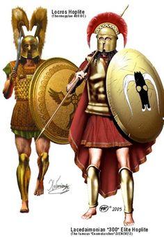 Hoplite and Spartan at Thermopoli, circa 480 BCE