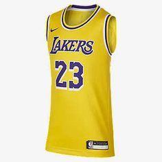 Based on the authentic NBA jersey, the Icon Edition Swingman (Los Angeles Lakers) Nike NBA Jersey lets you rep your team while helping keep you cool and comfortable through every move. Los Angeles Lakers, Suits You, Cool Suits, Nike Nba Jerseys, Lebron James Lakers, Nike Store, Pleated Pants, Nike Shorts, Cheer