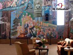 """En el HOTEL POSADA TIERRA BLANCA contamos con un hermoso mural del norte de México llamado """"La profecía de la raza cósmica"""" una obra realizada por el muralista de origen chihuahuense Aarón Piña Mora. Venga a disfrutar del estado más grande de México. Comuníquese con nosotros y haga su reservación hoy mismo al teléfono (614) 415-0000 con 7 Líneas • Fax (614) 416-0063 http://www.posadatierrablanca.com.mx/ #ah-chihuahua"""
