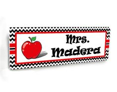 red apple themed personalized office or teacher class door name plate by kasefazem  sc 1 st  Pinterest & personalized male teacher class door name plate green hgreen ... pezcame.com
