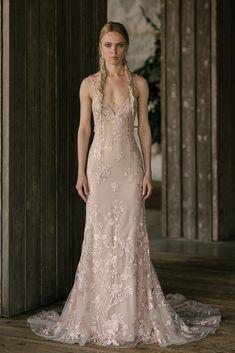 Nightengale, Plunging back embroidered lace slip gown in Peony, by [Rivini by Rita Vinieris](https://www.brides.com/photo/wedding-dresses/designer/rivini-by-rita-vinieris)