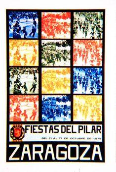 Cartel a concurso del Pilar año 1979 Titulo: Zaragoza y el Pilar