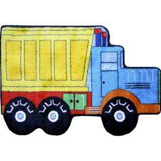 Fun Rugs Fun Shape High Pile Dump Truck Area Rug