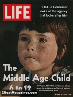 Life Magazine October 20, 1972 : Cover - Lori DeWilkens, A child with freckles.