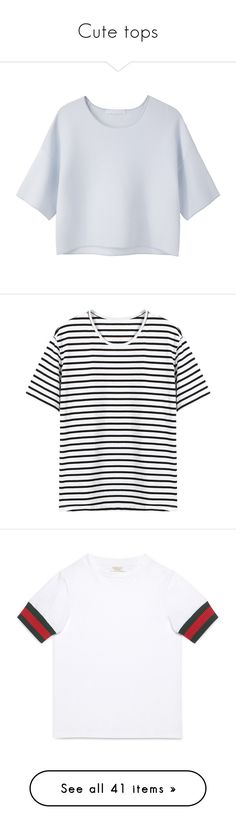 """""""Cute tops"""" by thedailywear ❤ liked on Polyvore featuring tops, t-shirts, shirts, crop tops, t shirt, tee-shirt, rayon t shirts, crop top, crop t shirt and yoins"""