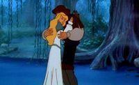 :Derek and Odette hugging # Swan Lake