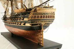 Close-up photos of ship model HMS Wellesley. HMS Wellesley was launched at Bombay in 1815 as a 74 gun ship. Old Sailing Ships, Hms Victory, Ship Of The Line, Close Up Photos, Model Ships, Napoleonic Wars, Model Building, Victorious, Woodworking